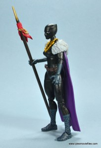 marvel legends shuri and klaw figure review -shuri cape left side