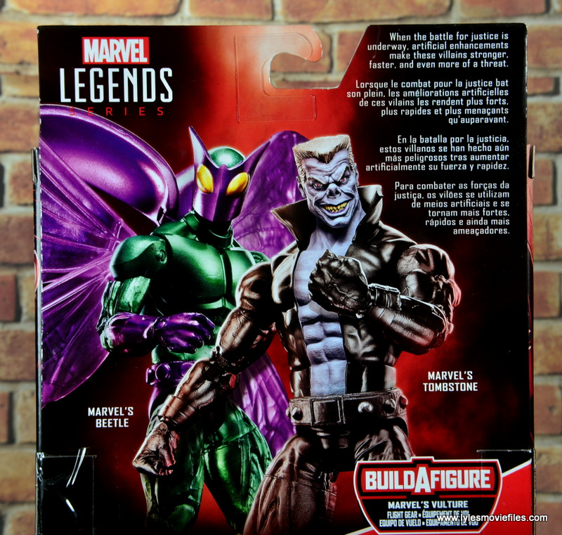 marvel legends tombstone figure review -package bio