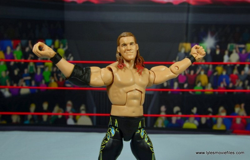 wwe defining moments chris jericho figure review - arms out showboat pose