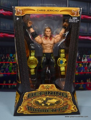 wwe defining moments chris jericho figure review - package front