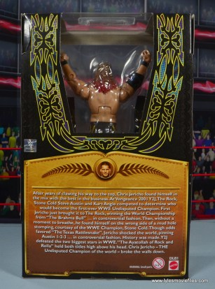 wwe defining moments chris jericho figure review - package rear