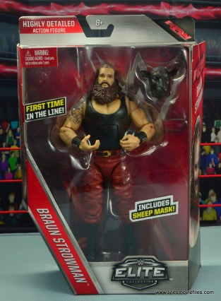 wwe elite 44 braun strowman figure review - package front