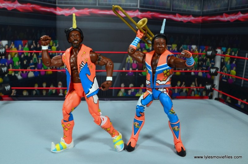wwe elite 52 new day figure review - kofi and xavier with accessories