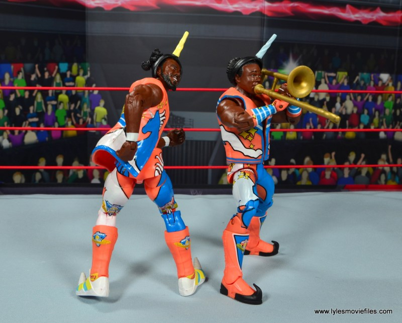 wwe elite 52 new day figure review -new day taunt