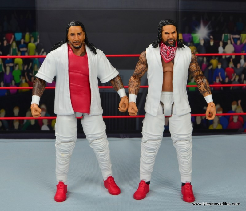wwe elite 54 the usos jimmy and jey usos figure review - front