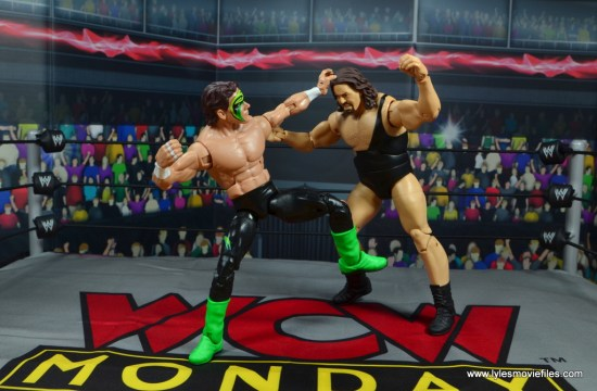 wwe elite bash at the beach sting figure review - punching the giant