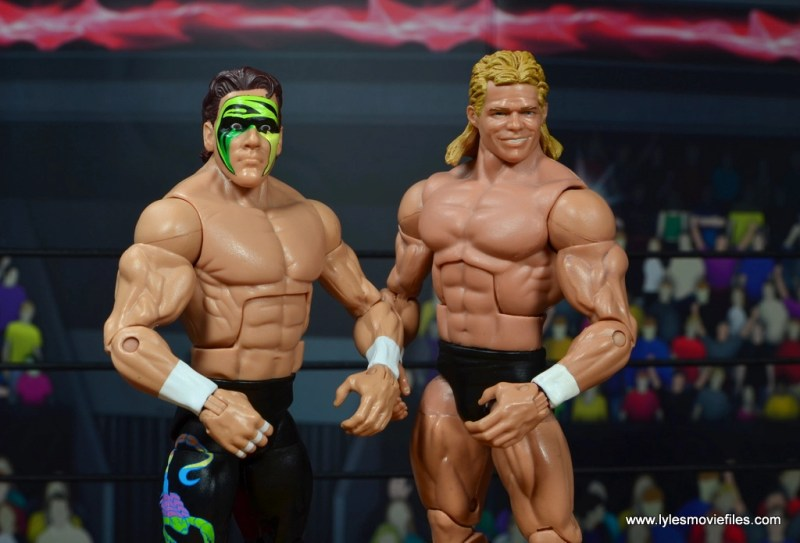 wwe elite bash at the beach sting figure review - standing with lex luger