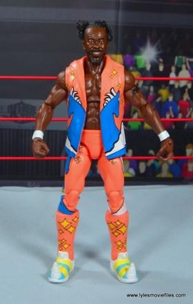 wwe elite kofi kingston figure review -front with vest on