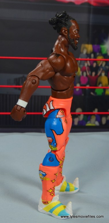 wwe elite kofi kingston figure review -right side