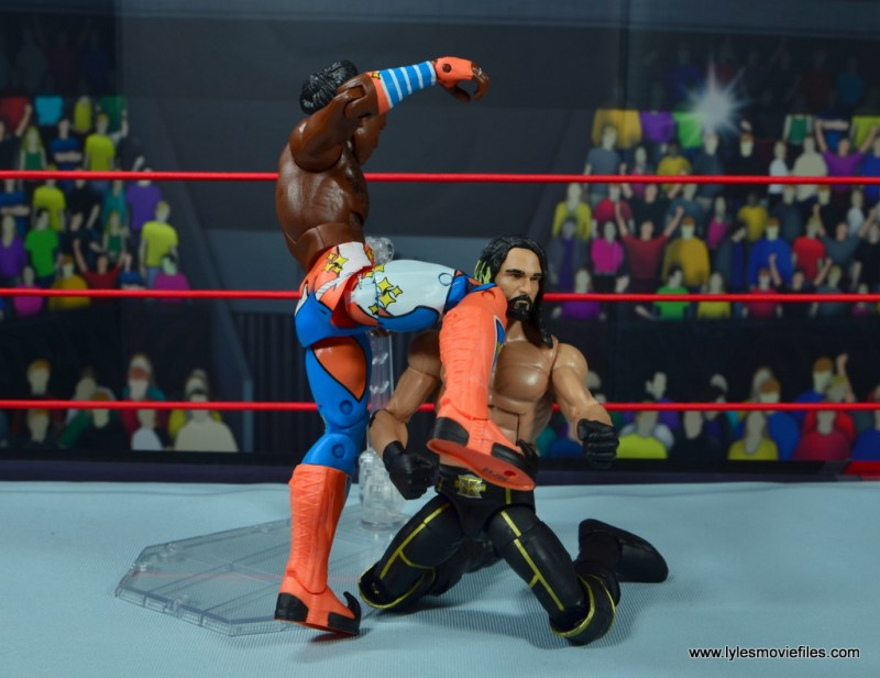 wwe elite xavier woods figure review -shining wizard to seth rollins