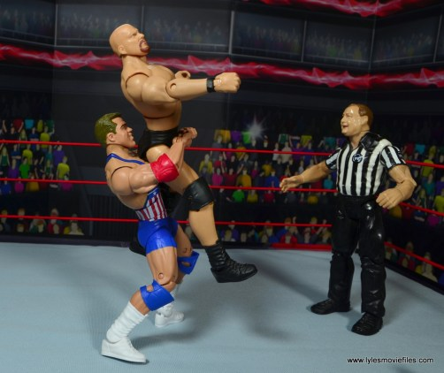 wwe entrance greats kurt angle figure review - belly to back suplex to stone cold
