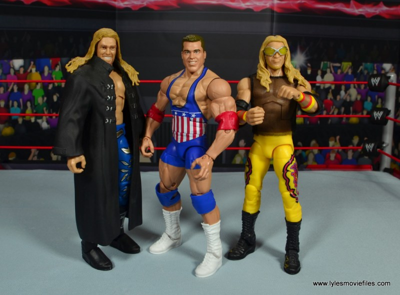 wwe entrance greats kurt angle figure review - with edge and christian