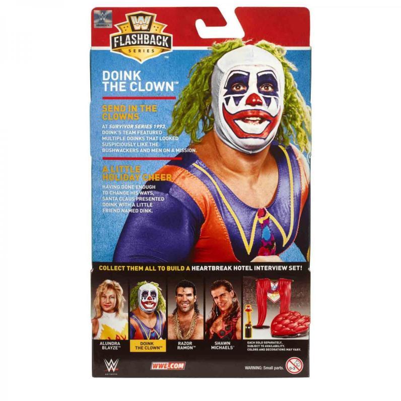 wwe flashback build a heartbreak hotel -doink the clown package rear