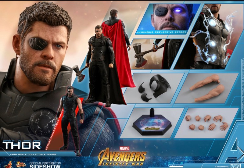Hot Toys Avengers Infinity War Thor figure collage