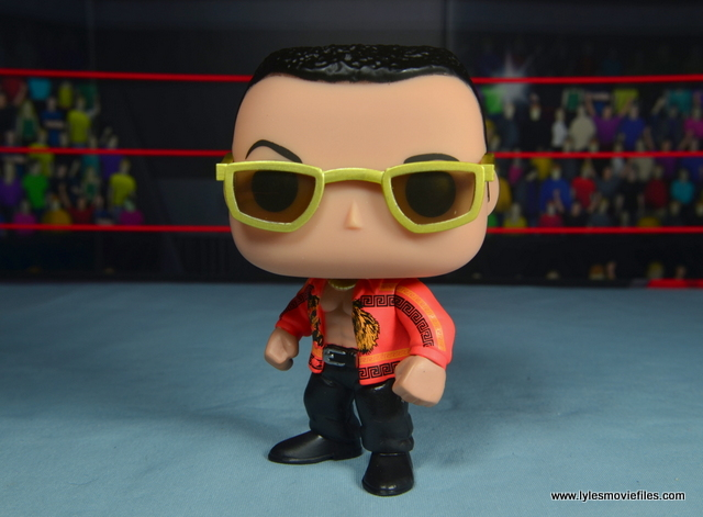 Funko Pop! WWE The Rock figure review - head to the left