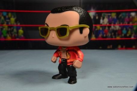 Funko Pop! WWE The Rock figure review - left side
