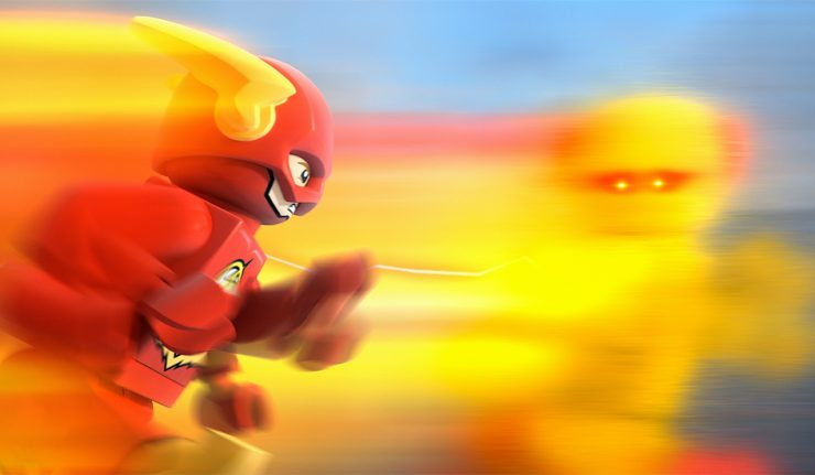 LEGO DC Comics Super Heroes The Flash review - the flash racing reverse flash