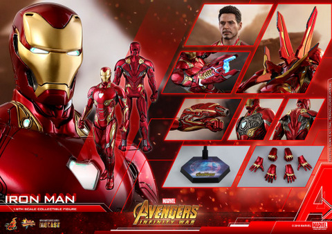 hot toys avengers infinity war iron man figure -collage
