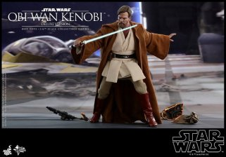 hot toys revenge of the sith obi wan kenobi figure -slicing droids
