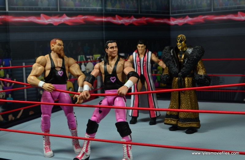 march bashness 2018 1st round winners Hart Foundation vs Rhodes - teams ready