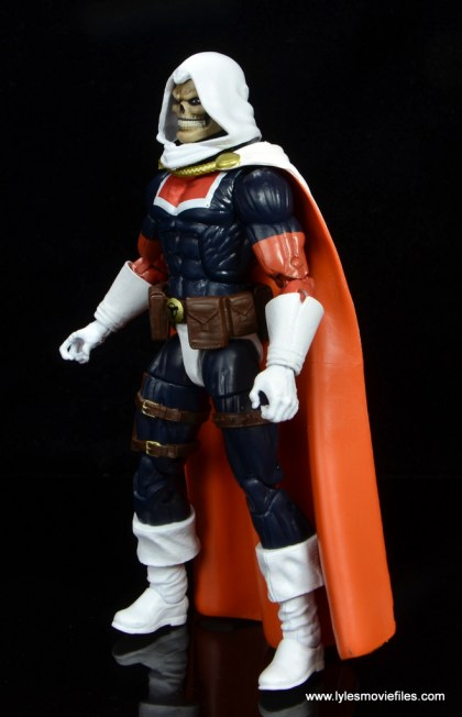 marvel legends taskmaster figure review - left side