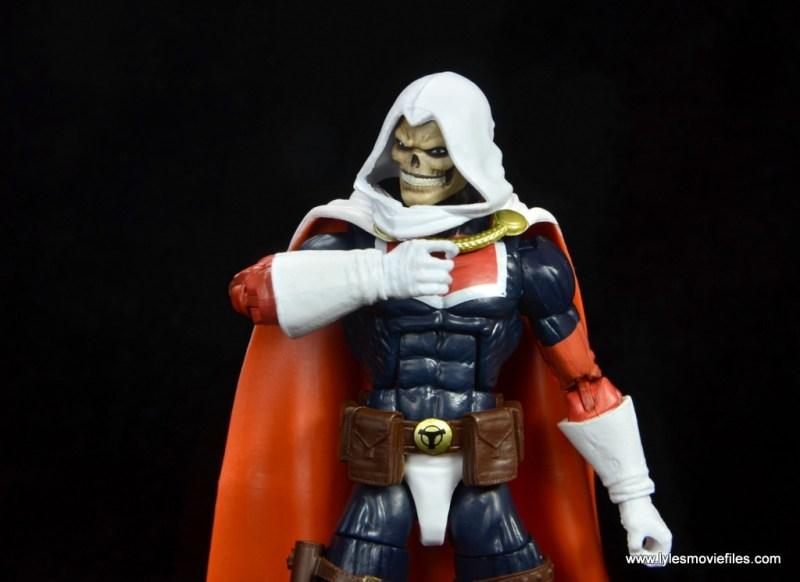 marvel legends taskmaster figure review - thinking