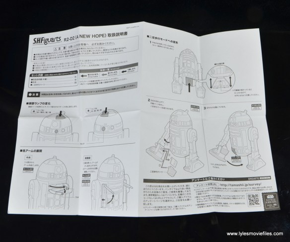 sh figuarts r2d2 figure review - instructions