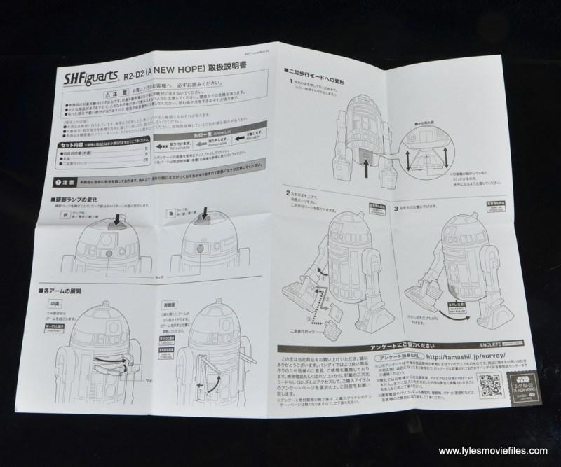 sh figuarts r2d2 figure review - instructions