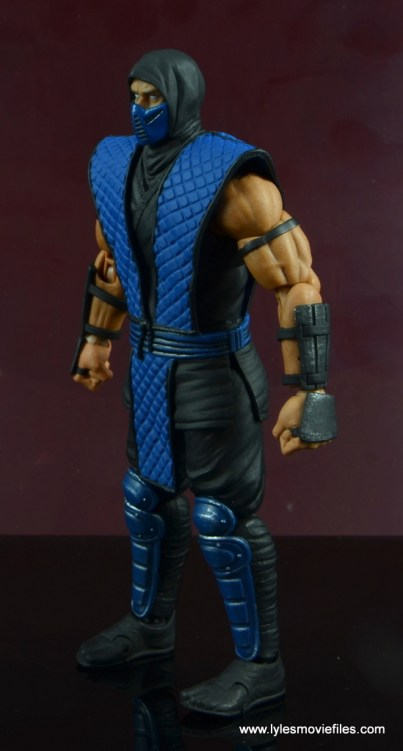 storm collectibles mortal kombat sub-zero figure review - left side