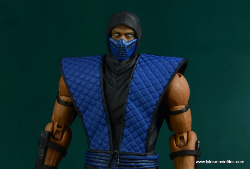 storm collectibles mortal kombat sub-zero figure review -wide detail shot