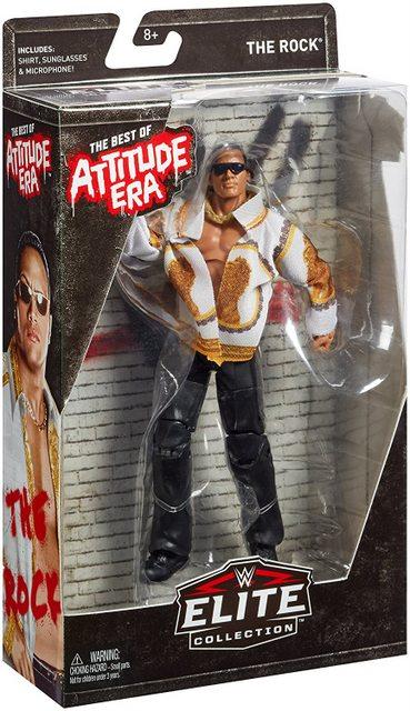 wwe best of attitude era the rock figure package side