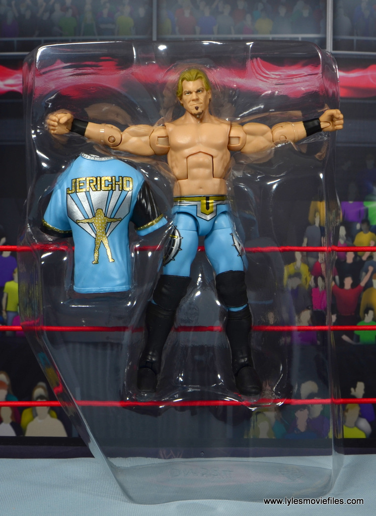 wwe ringside collectibles chris jericho figure review -in plastic tray