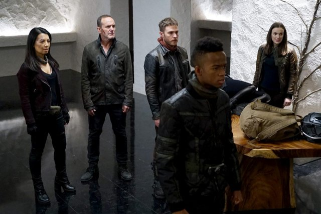 agents of shield past life review -may, coulson, fitz, flint and gemma