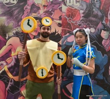 awesome con 2018 cosplay -clock king and chun-li