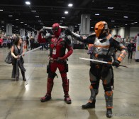 awesome con 2018 cosplay -deadpool and deathstroke