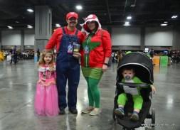 awesome con 2018 cosplay -mario bros family