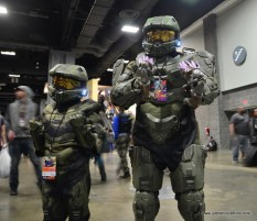 awesome con 2018 cosplay -master chief duo