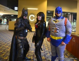 awesome con 2018 cosplay -nolan batman, baroness, classic batman