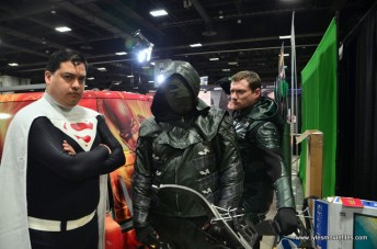 awesome con 2018 cosplay -superman, dark arrow and arrow