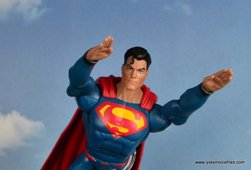 dc multiverse superman rebirth figure review - flying in the clouds