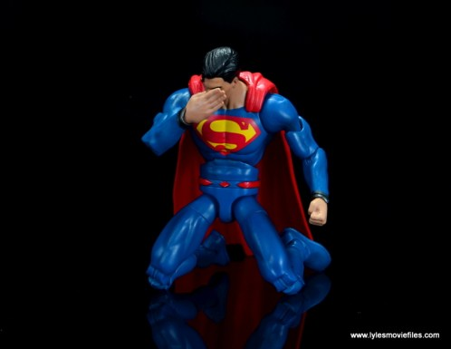 dc multiverse superman rebirth figure review - on both knees