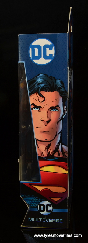 dc multiverse superman rebirth figure review - package left side