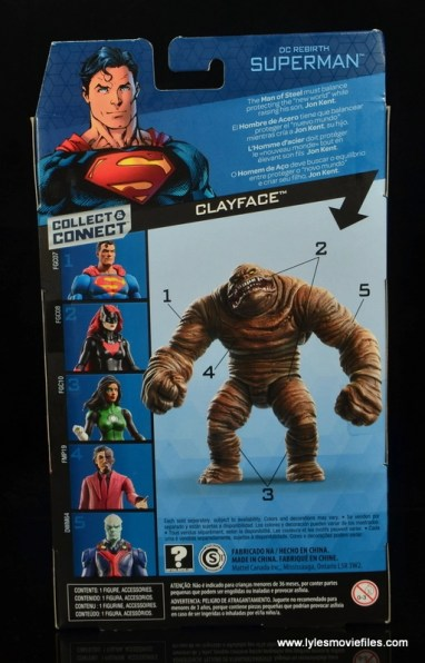 dc multiverse superman rebirth figure review - package rear