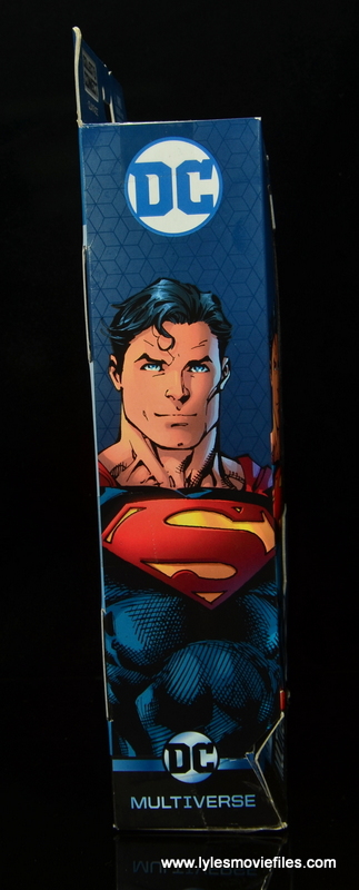 dc multiverse superman rebirth figure review - package right side