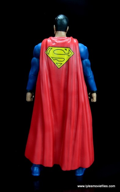 dc multiverse superman rebirth figure review - rear