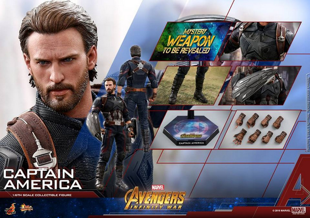 hot toys avengers infinity war captain america -collage