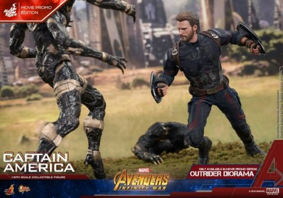 hot toys avengers infinity war captain america -fighting outrider duo