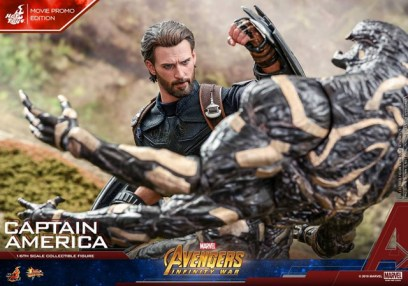 hot toys avengers infinity war captain america -movie promo vs outrider