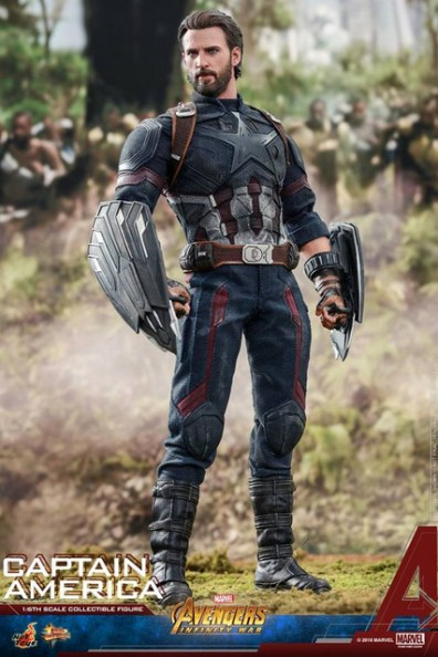hot toys avengers infinity war captain america -standing tall
