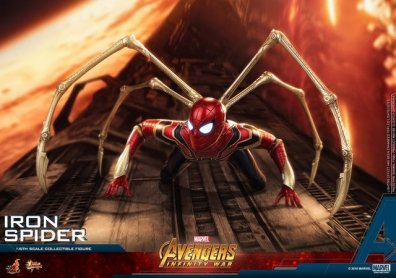 hot toys avengers infinity war iron spider-man figure -wall crawling